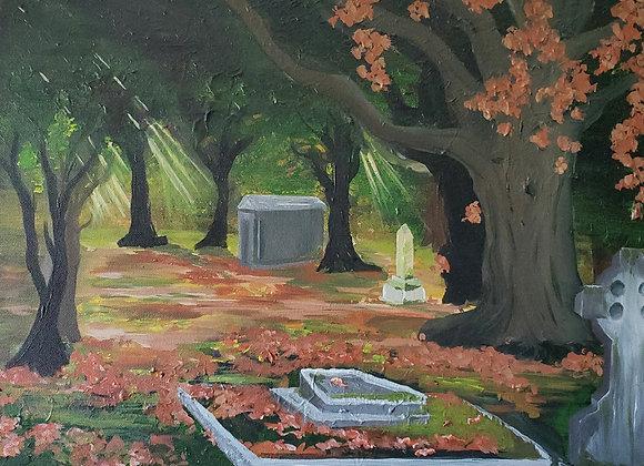 Autumn Falls In The Graveyard