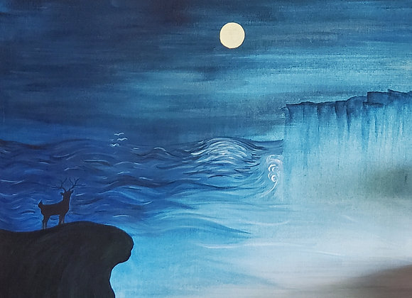 Cliffs By Moonlight