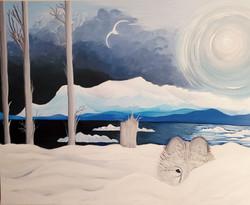 Watching Wolf in Winter Light2