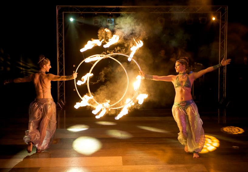 fire hoop act