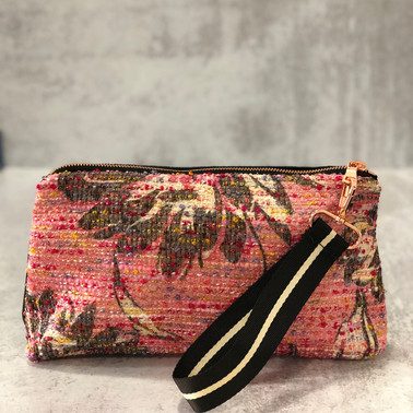 Pink Tweed Pouch
