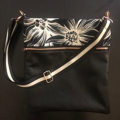 Black Leather with Italian Jacquard