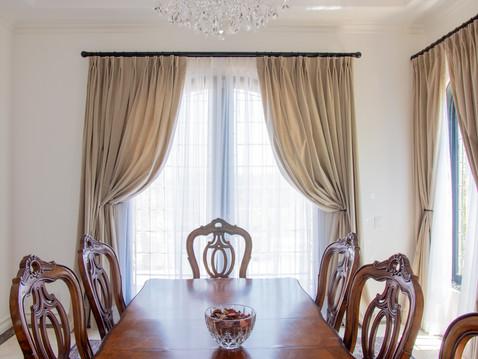 Velvet Dining Room Drapes