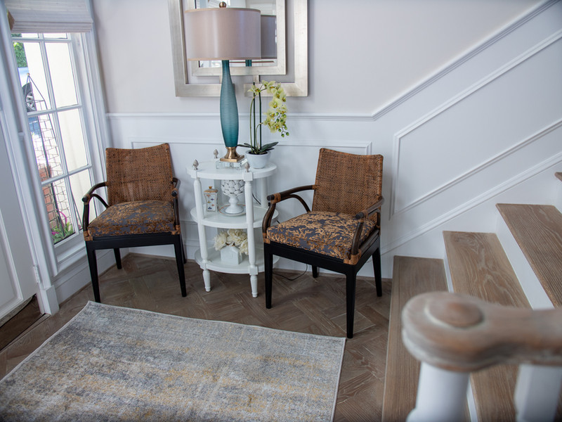 Foyer with Upholstered Occasional Chairs