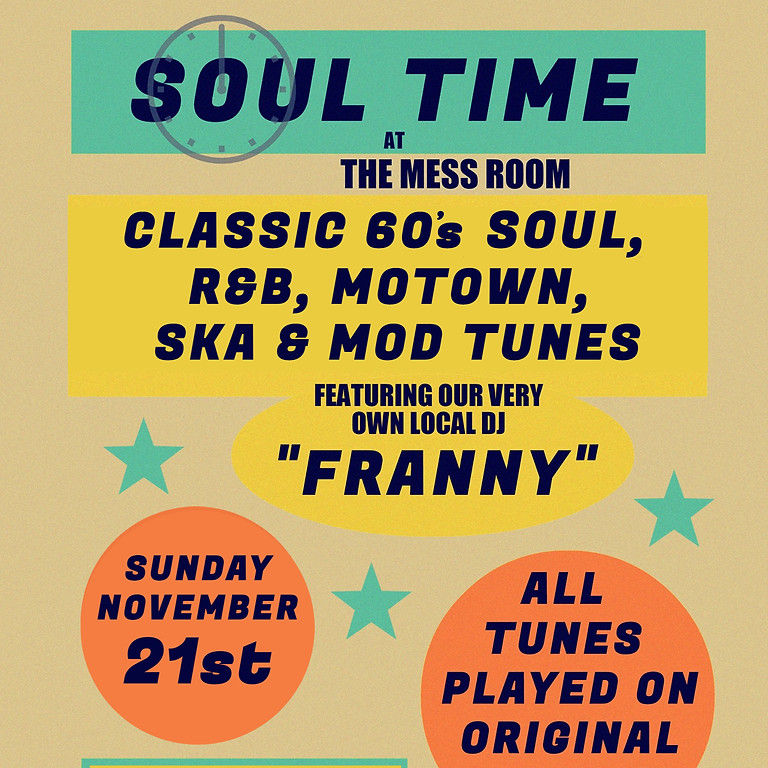 Soul Time with Vinyl DJ Franny