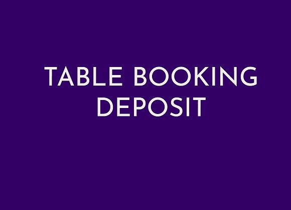 Table Booking Deposit