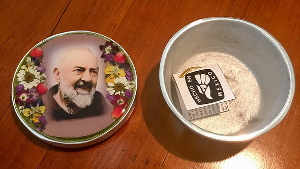 Pewter Box w/ Image of Padre Pio