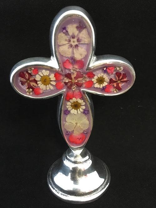 Standing Cross w/ flowers