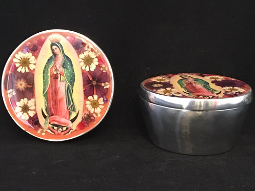Pewter Box w/ Image of Our Lady of Guadalupe