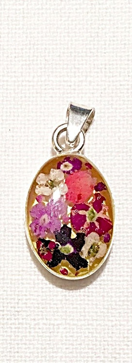 LJ6 - Large Pendant with Flowers