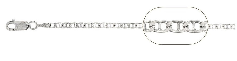"""1.5 mm Mariner Chain Sterling Silver 30"""""""
