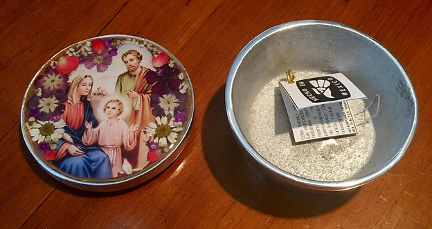 Pewter Box w/ Image of the Holy Family