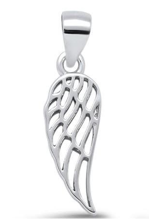 Plain Angel Wing .925 Sterling Silver Pendant