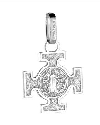 St Benedict's Cross,  Sterling Silver
