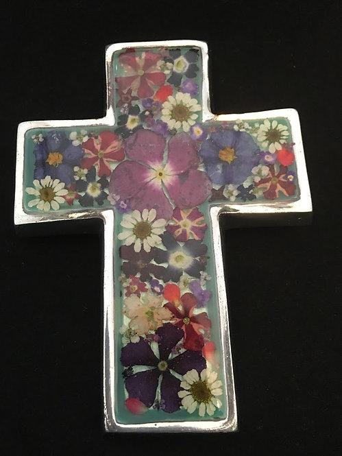 Small Cross w/ flowers