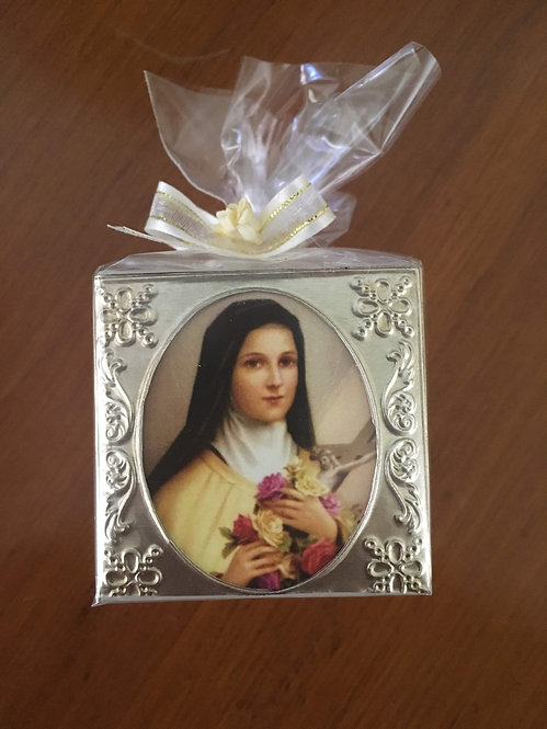 St Therese of Lisieux Cube Candles