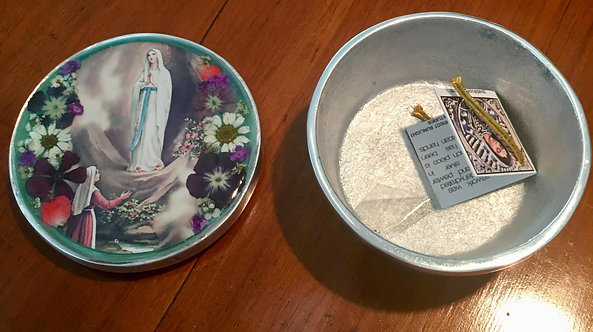 Pewter Box w/ Image of Our Lady of Lourdes
