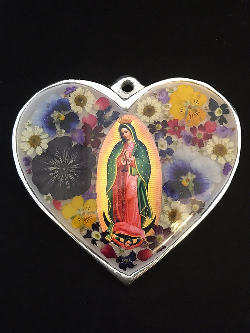 Large Heart with Flowers Guadalupe