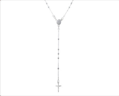 Sterling Silver Rosary with Clasp, 7 grs.
