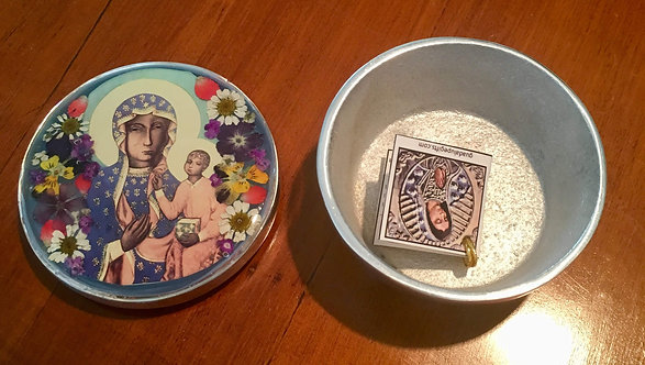 Pewter Box w/ Image of Our Lady of Czestochowa