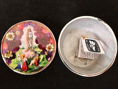Pewter Box w/ Image of Our Lady of Fatima
