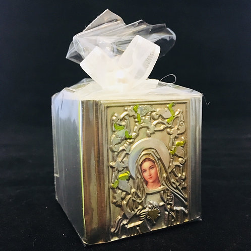 Immaculate Heart of Mary Cube Candles