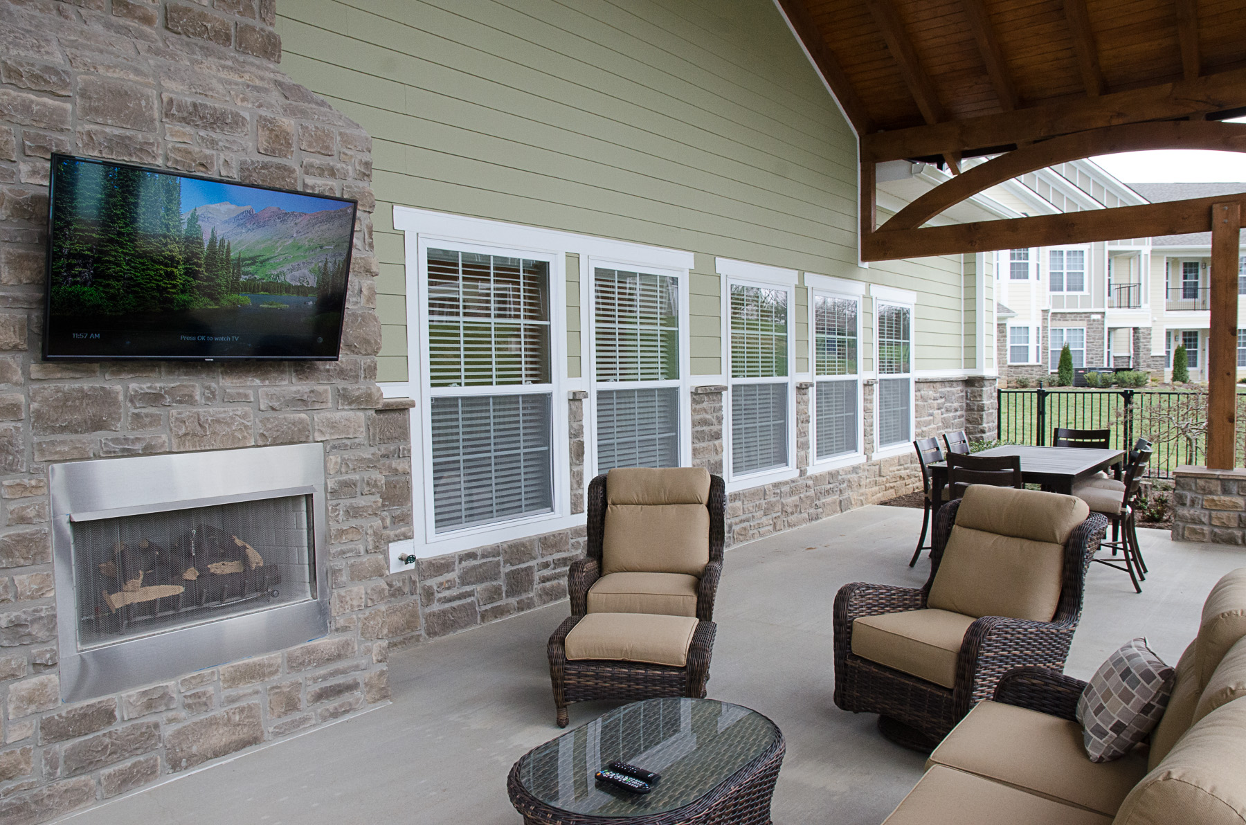 Outdoor TV area