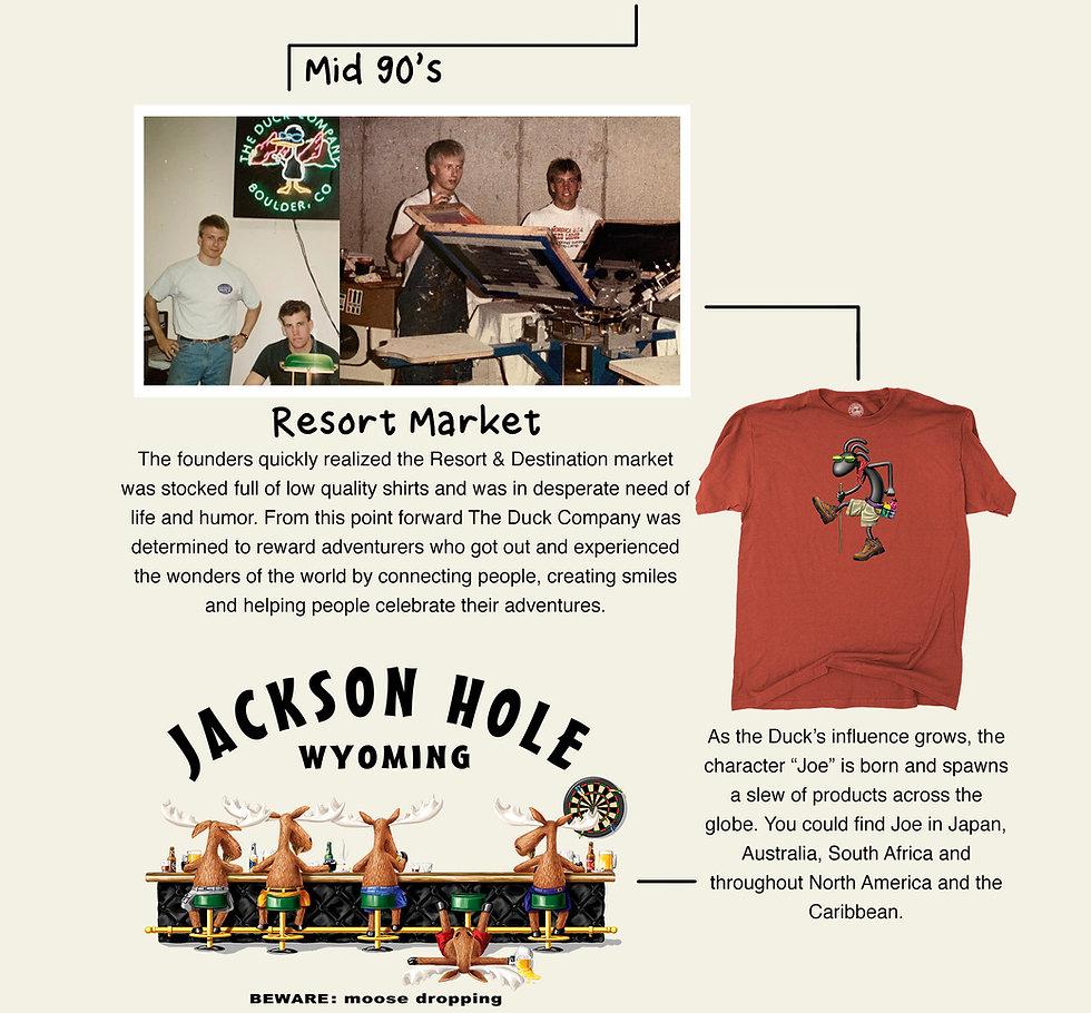 The Duck Company, Celebrate Adventure, T-Shirt, Duck History, Screen Print, Moose, Jackson Hole Wyoming