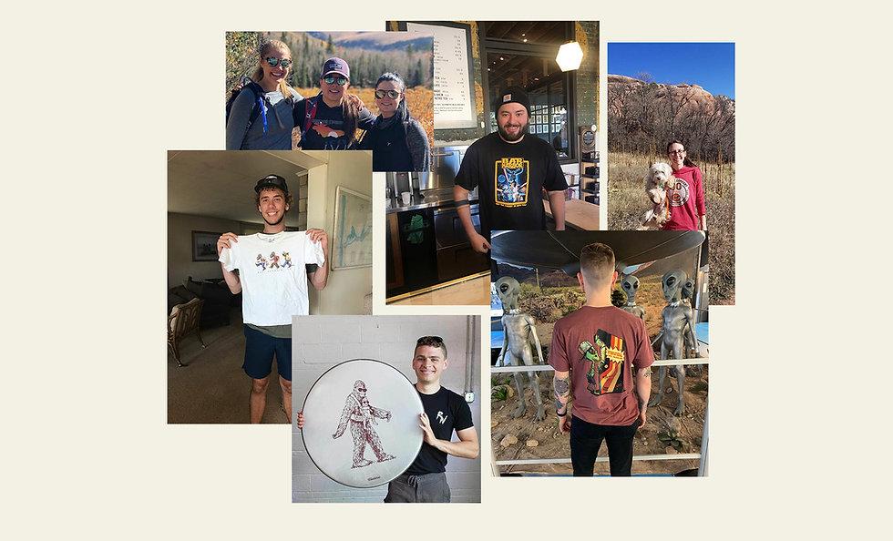 The Duck Company, Celebrate Adventure, T-Shirt, Sasquatch, Alien, Happy Customers