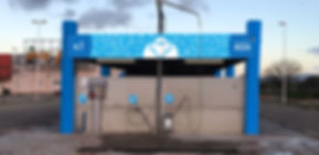 Vista della pista 1 dell'autolavaggio self service La Pecora Bianca Car Wash