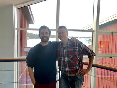 With colaborator Kerstin Johanesson