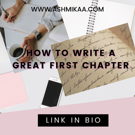 How to write a great first chapter