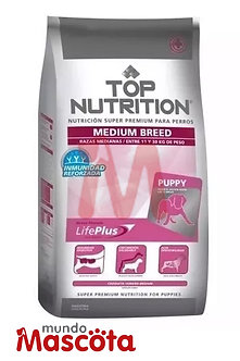 Top nutrition cachorro puppy medium Mundo Mascota Moreno