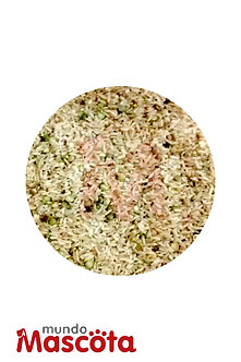 Arroz saborizado cereales alimento Mundo Mascota Moreno