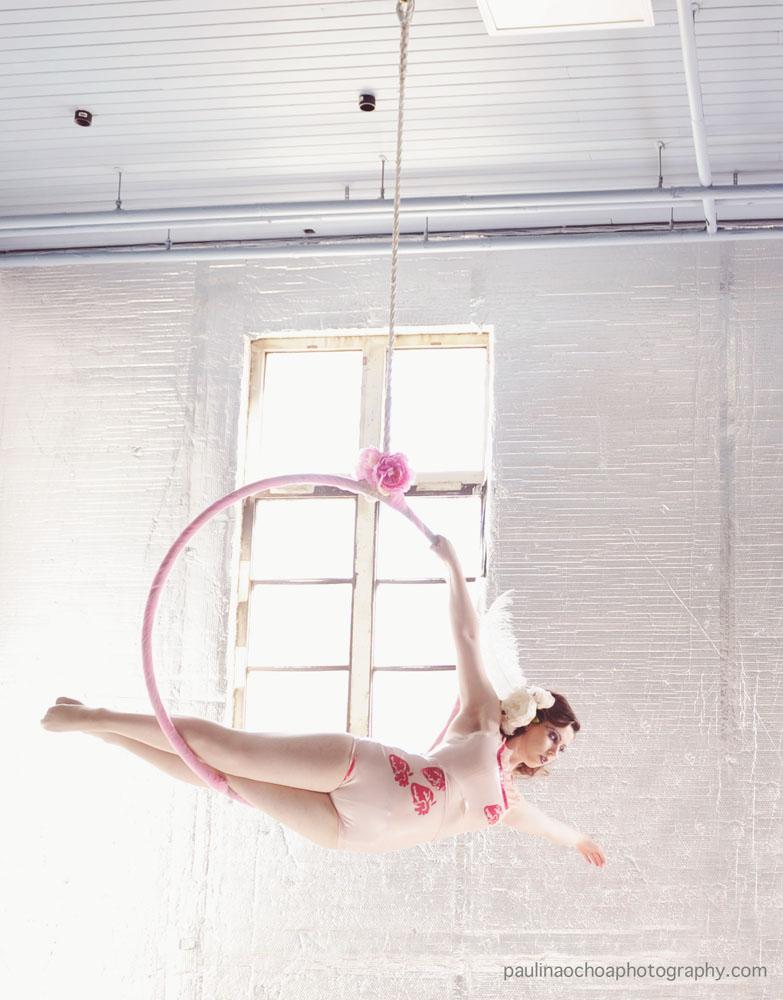 woman in hoop