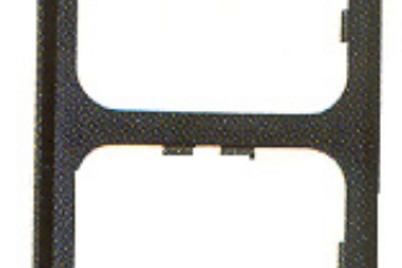 Aro castanho duplo para interruptores / tomadas