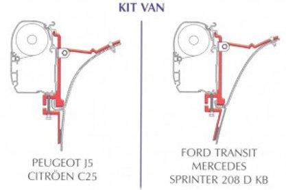 Kit fixação para toldo F 45 - Ducato, J5, C25, Transit e Sprinter