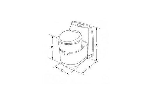 Sanita cassete rotativa Thetford C263 CSL