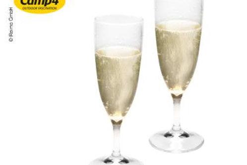 Conjunto de 2 copos de champagne plástico