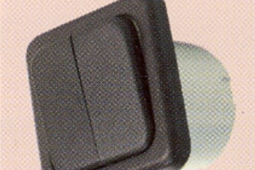 Interruptor duplo castanho sem caixa de protecção.