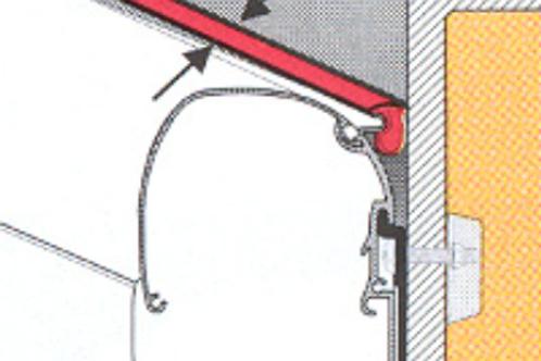 Perfil borracha anti-chuva 16 mm para toldo