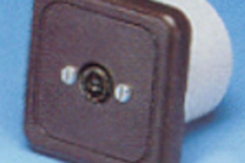 Tomada de antena castanha sem caixa de protecção
