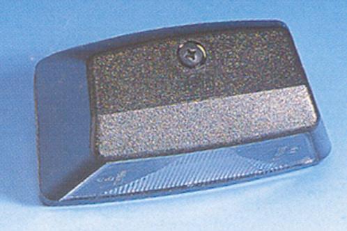 Farolim traseiro de matricula preto 100 x 55 mm
