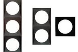 Aro Simples preto para tomada/interruptor Berker Integro Flow