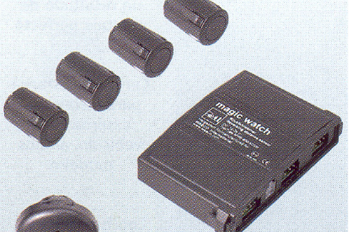 Sensor de aparcamento acústico e visual por led