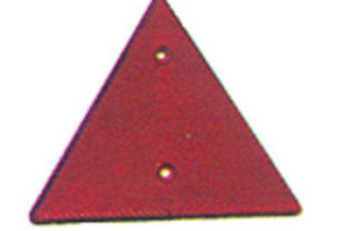 Reflector triangular vermelho