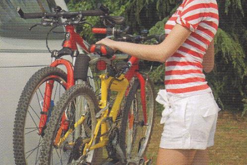 Suporte 2 bicicletas XLA para lança de caravana