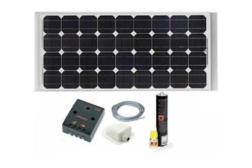 Painel Solar Monocristalino 120W em KIT