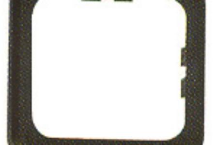 Aro branco simples para interruptores / tomadas