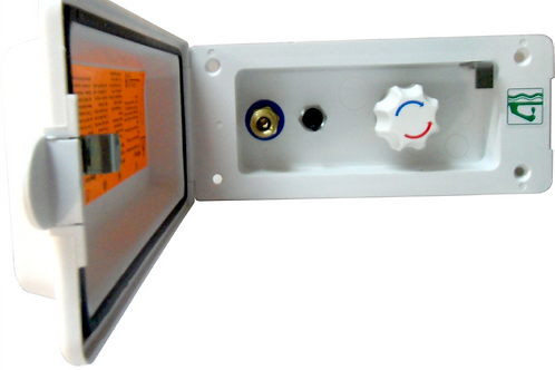 Tomada duche exterior misturador com interruptor